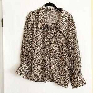 Storets Leopard Print Blouse